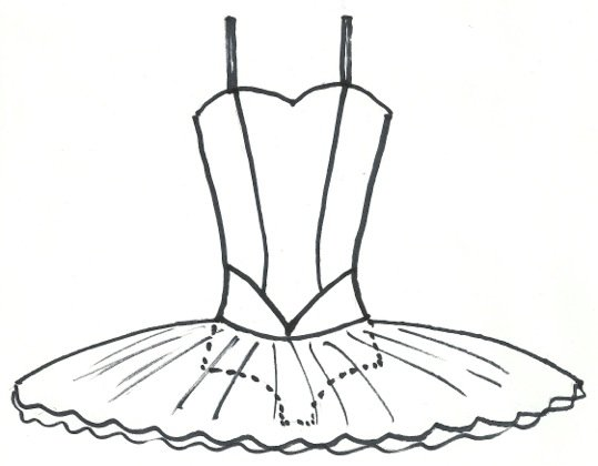 Line drawing for pattern cover front